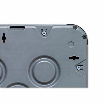"Iceberg Enterprises Charcoal Frame Combo Dry Erase/Cork 3' 6"" x 5' 6"" Whiteboard and Bulletin Board"