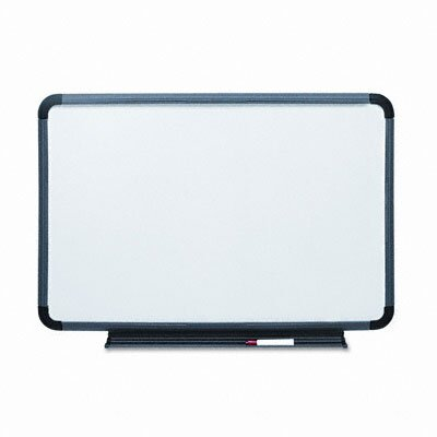 "Iceberg Enterprises Ingenuity Charcoal Resin Frame With Tray Dry Erase Board 24"" x 36"""
