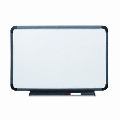 "Iceberg Enterprises Ingenuity Charcoal Resin Frame With Tray Dry Erase Board 36"" x 48"""