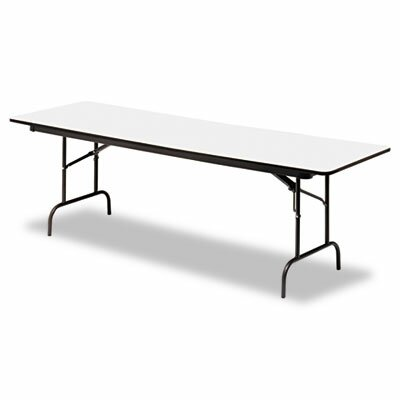 "Iceberg Enterprises Iceberg Premium Wood Laminate 96"" Rectangular Folding Table"