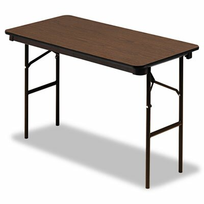 "Iceberg Enterprises Iceberg Economy Wood Laminate 48"" Rectangular Folding Table"