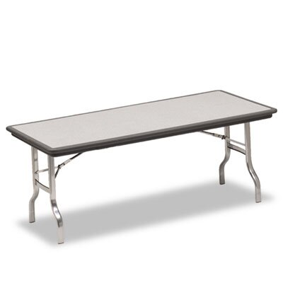 Iceberg Enterprises Indestruc-Tables Too Folding Table, Rectangular, 96d x 30d x 29h, Charcoal