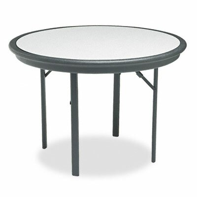 "Iceberg Enterprises Indestructable Resin Folding Table, 42"" Dia. X 29H"