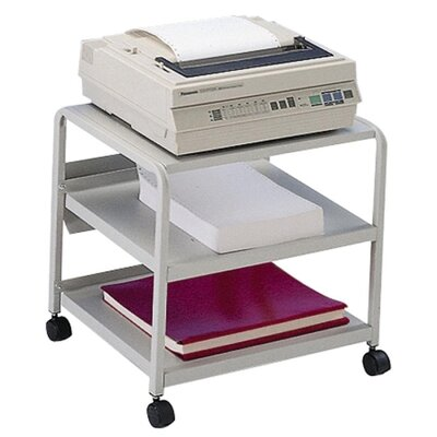 "Iceberg Enterprises Mobile Printer Stand, w/ Casters, 21""x16""x19"", Platinum"