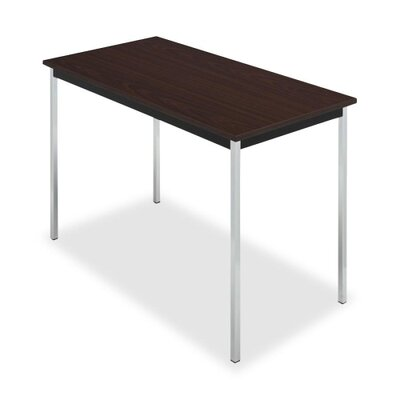 "Iceberg Enterprises Utility Table, 72""x20""x29"", Chrome Legs, Mahogany/Black"