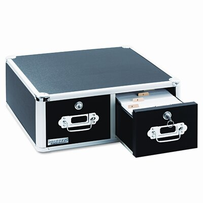 Ideastream Products Vaultz Vaultz Locking 5 X 3 Two-Drawer Index Card Box