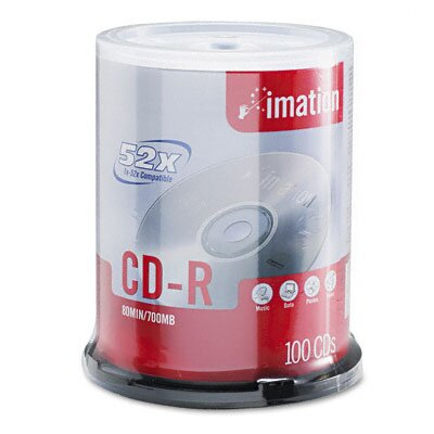 Imation 17262 CD-R Disc, 700Mb/80Min, 100/Pack