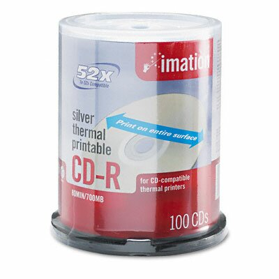 Imation CD-R Disc, 700Mb/80Min, 52X, Spindle, 100/Pack