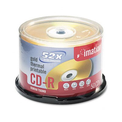 Imation CD-R Disc, 700Mb/80Min, 52X, 50/Pack