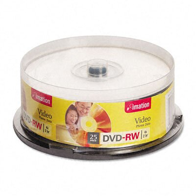 Imation DVD-RW Disc, 4.7Gb, 25/Pack