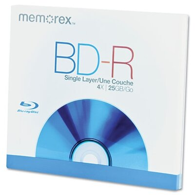 Imation Memorex Blu-Ray BD-R Recordable Disc, 25GB