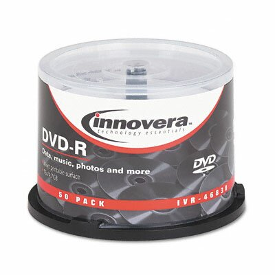 Innovera® DVD-R Disc, Hub Printable, 50/Pack