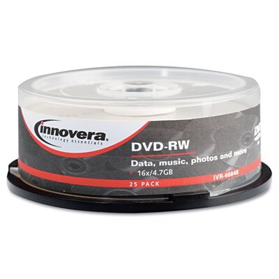 Innovera® DVD-RW Disc, 25/Pack