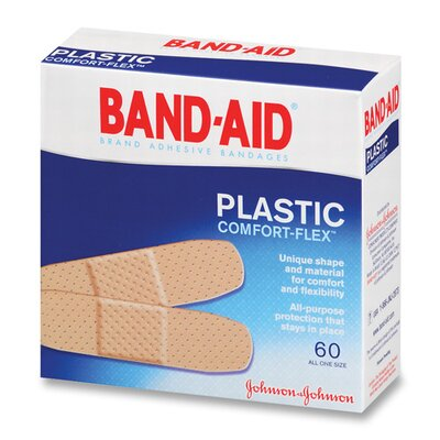 Johnson & Johnson Johnson Band-Aid Plastic Bandages, 60 per Box