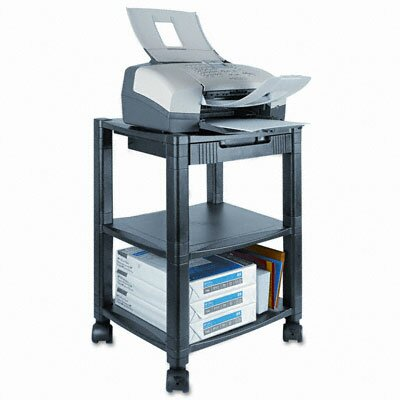 Kantek Mobile Printer Stand, 2-Shelf, 17W X 13-1/4D X 19-3/4H