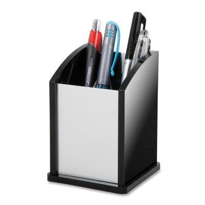 Kantek Pen Cup, Aluminum, 12/CT, Black/Acrylic