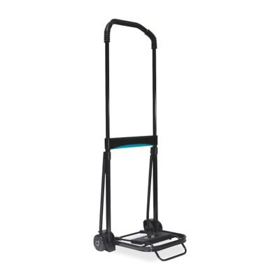 "Kantek Folding Cart, 39"" Handle, 110 lb Capacity, 9-3/4""x11"" Platform, Black"