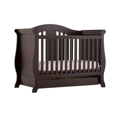 Storkcraft Vittoria Fixed Side Convertible Crib in Espresso