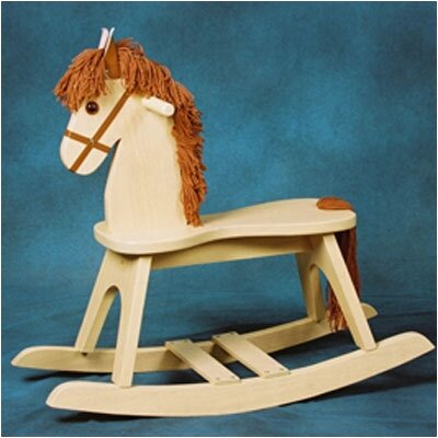 PlayTyme Child's Rocking Horse in Natural