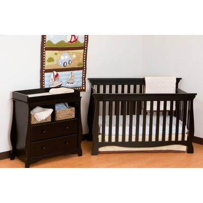 Storkcraft Carrara Fixed Side 4-in-1 Convertible Crib Set