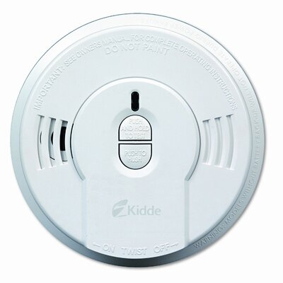 Kidde Fire and Safety Front-Load Smoke Alarm w/Mounting Bracket, Hush Feature
