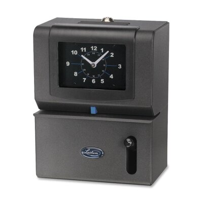 Lathem Time Company Manual Time Clock, Month/Date/Hours/Minute, Charcoal