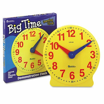 Learning Resources® Big Time Clocks 12-Hour Demonstration Clock