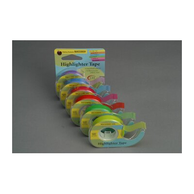 Lee Products Company Removable Highlighter Tape Green