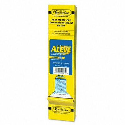 Lil' Drugstore Aleve Pain Reliever Tablets Refill Packs, 30 Packs/Box