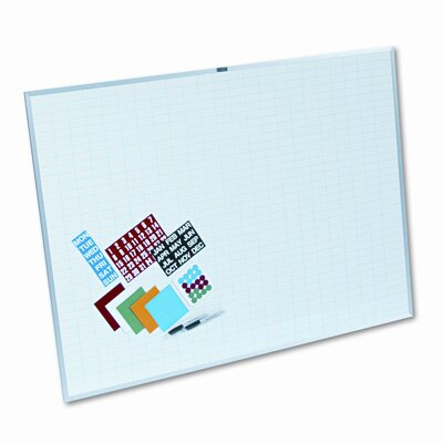 Magna Visual, Inc. Lustreboard Planning Kit 3' x 4' Whiteboard