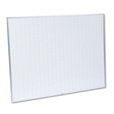 Magna Visual, Inc. Planning Board, 1x2 Grid, Porcelain-on-Steel, 48 x 36, Blue/White