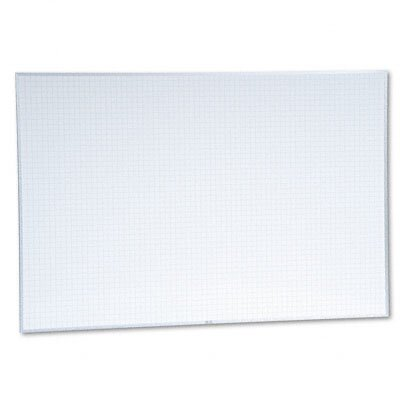 Magna Visual, Inc. Planning Board, 1x1 Grid, Porcelain-on-Steel, 72 x 48, Blue/White