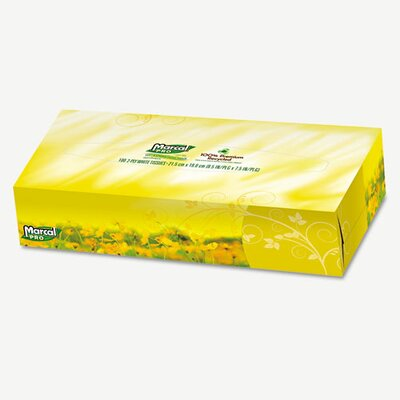 Marcal Paper Mills, Inc. Pro 100% Premium Recycled Facial Tissue, 100/Box, 30 Boxes/Carton