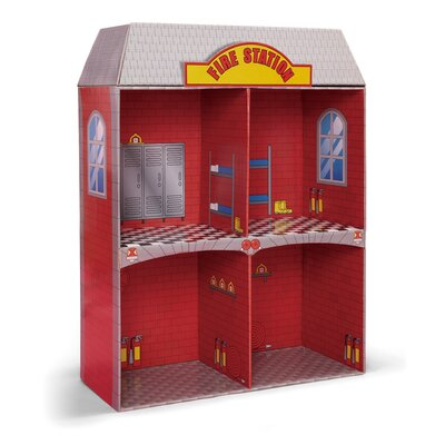 Badger Basket Adventure Fire Station Dollhouse