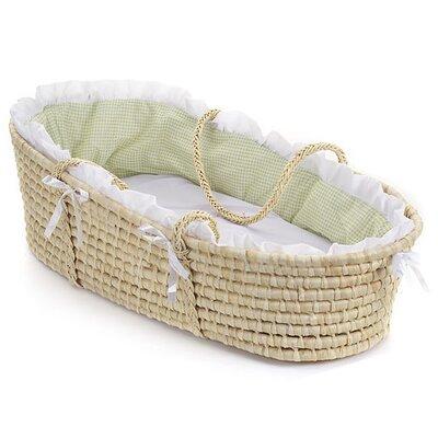 Badger Basket Moses Basket with Gingham Bedding