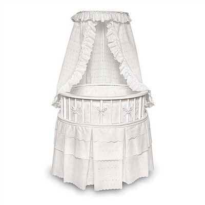 Badger Basket Elegance Bassinet with Bedding