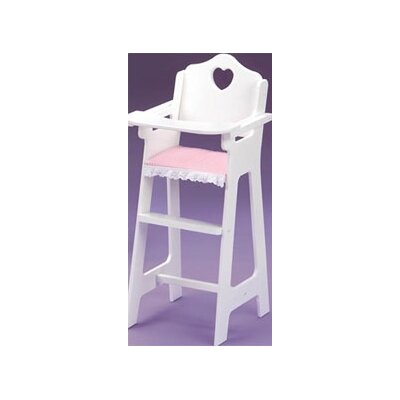 Badger Basket White Doll High Chair