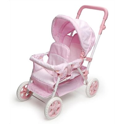 Badger Basket Double Front-to-Back Doll Stroller