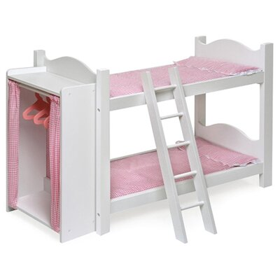 Badger Basket Bunk Beds with Ladder and Storage Armoire for 20