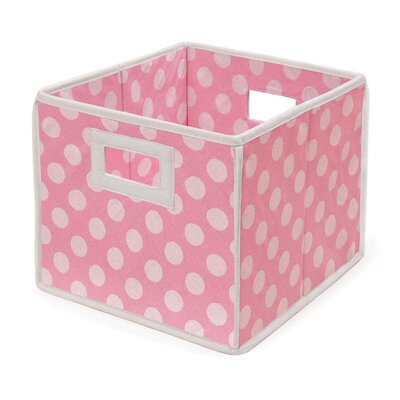 Badger Basket Folding Storage Cube in Polka Dot