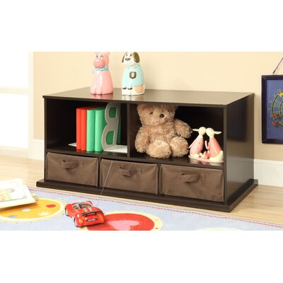 Shelf Storage Cubby with 3 Baskets