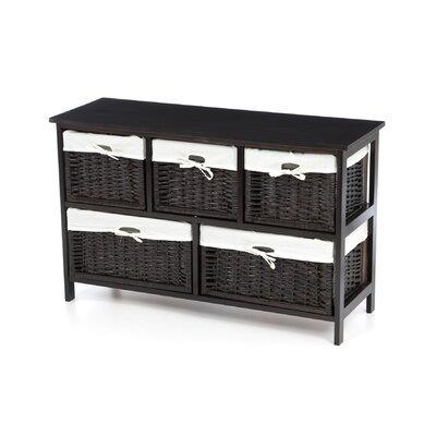 Badger Basket 5 Wicker Basket Storage Unit