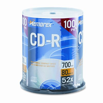 Memorex CD - R Discs, 100/Pack