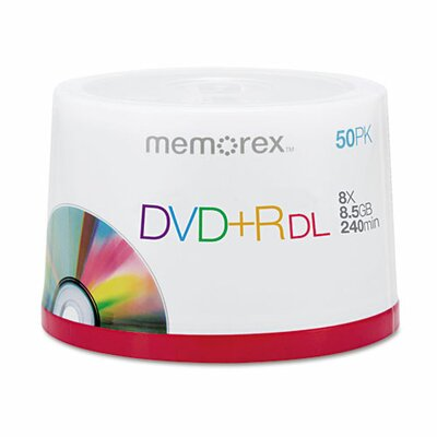 Memorex Dual-Layer DVD+R Discs (Set of 50)