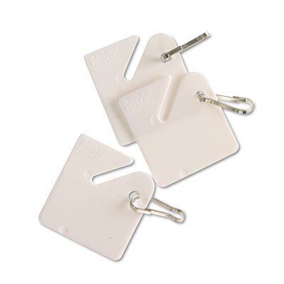 MMF Industries Steelmaster Numbered Slotted Rack Key Tags, 20/Pack