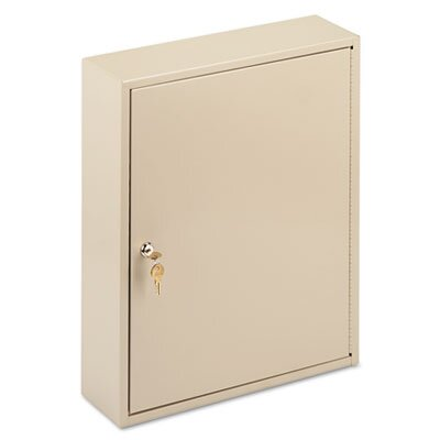 MMF Industries Locking 240-Key Welded Steel Cabinet, 16-1/2w x 5d x 20-1/2h, Sand