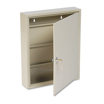 MMF Industries Locking Disc-Tumbler 80-Key Welded Steel Cabinet, 14w x 3-1/8d x 17-1/8h, Sand