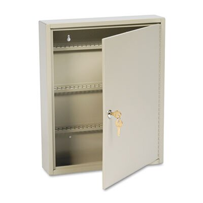 MMF Industries Locking Disc-Tumbler 110-Key Welded Steel Cabinet, 14w x 3-1/8d x 17-1/8h, Sand