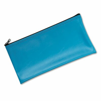 MMF Industries Leatherette Zippered Wallet, Leather-Like Vinyl, 11W X 6H