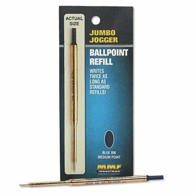 MMF Industries Refill Jumbo Jogger Pens, Medium, Blue Ink